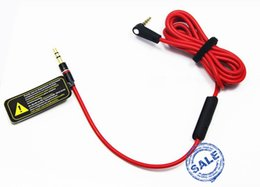 Wholesale Newest mm Replacement Red Cables for Beats Studio Heaphones with Control Talk and MIC Extension Audio AUX Cable for SOLO MIXR Headsets