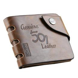 Wholesale Brand new Leather Wallet Cowboy Men Pockets Card Clutch Cente Bifold Purse Slim Coin Holder For men