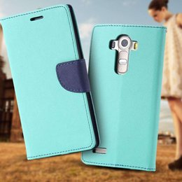 Brand PU Leather Full Cover For LG G4 Flip Phone Housing Stand Holder Cart Insert With Logo Cell Phone Case For LG G4