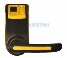 Wholesale Black Yellow ADEL LS9 Cost Effective Reversible Handle Fingerprint Door Lock In Fingerprint Password Key