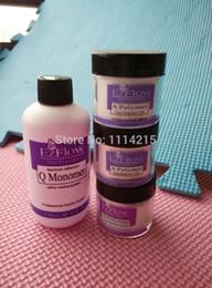 Wholesale-Free shipping EzFlow powder uv gel powder EzFlow GRIP MONOMER LIQUID set high quality nail gel powder nail tools