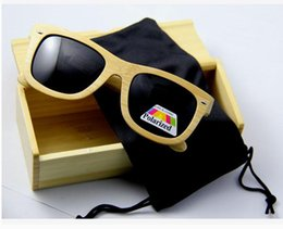 Wholesale New High Quality grade Wood Sunglasses Real Bamboo Wood Sunglases Men Women Polarized Driving Glasses Retro