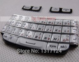 Wholesale For BlackBerry Bold Arabic Keypad QWERTY Keyboard Top Call Keys Repair Parts White Color