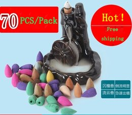 Wholesale 70pcs smoke backflow incense bullet cones aromatherapy fragrance sandalwood Indoor household Hollow incense