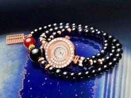 Agate Décoration Suivre naturel Grenat Perles Women Watch gros 2015 l'arrivée de nouveaux chinoise de style de Lucky national Heureux supplier garnet watch à partir de montre grenat fournisseurs