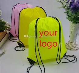 Wholesale Customize Drawstring Tote bags Logo print Advertising Backpack folding bags Marketing Promotion Gift shopping bags Screenprinting