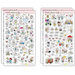 Wholesale sheets pink bean paper sticker diy scrapbooking album sticker sealing sticker post it kawaii stationery