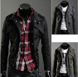 Wholesale Fashion Men s Small Lapel Neck Jackets Big Yards Slim Fit Coat Casual Spring Autumn Outwear Colors Support Mix Order