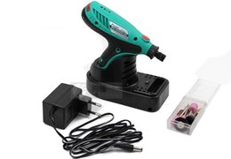 Wholesale ProsKit PT F Multi function Cordless Mini Electric Drill Grinder Kit Grinding tools set V LED lighting