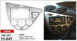 CARAV 11-547 Top Quality Radio Fascia for FORD Focus 1998-2004(Right Wheel   Silver) Stereo Fascia Dash CD Trim Installation Kit