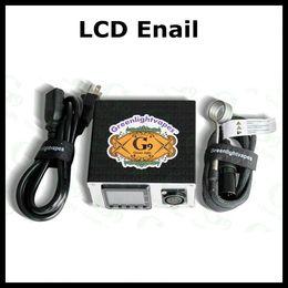 Wholesale Newest Omron LCD Enail Dnail D NAIL Electronic Temperature Controller Box For Smoker E Nail Coil With Ti Nail Pex Glass Bong free shippi