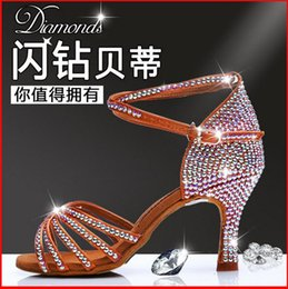 Wholesale BD Betty Women s Latin Dance shoes isointernational Ballroom dancing shoes adult dance high heeled shoes Multicolor Multi Heel Hot