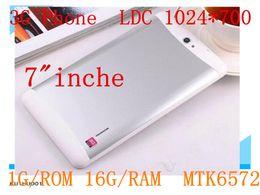 Wholesale 1GB GB Dual SIM G Tablet PC MTK6572 Core Inch Bluetooth GPS Phablet Phone call Tablet Pc