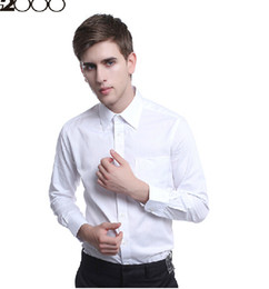 Wholesale-Handsome men long sleeve summer thin shirt pure color without ruffle party wear shirts