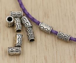 Wholesale Hot Tibetan Silver Crescent Tube Bracelet Beads mm za4
