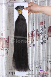 Wholesale Cheap Pre Bonded Remy Hair - Natural Black 1b Fusion Prebonded Keratin Human Hair Extensions Cheap Indian Remy Stick i tip Hair 0.5g s 100 bonds Fast Delivery