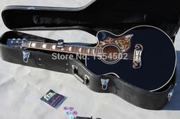Venta caliente 43 pulgadas jmbo BK corte la guitarra acústica J200, diapasón del palisandro, envío libre desde guitarra corte envío libre fabricantes