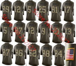 Wholesale Factory Outlet New Men s football Teddy Bridgewater Tom Brady Army Green Salute To Service Limited camo Jersey size S M L XL XXL