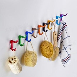 Wholesale High quality hook space aluminum colors Coat rack hooks rails clothes robe hooks wall rack decoration