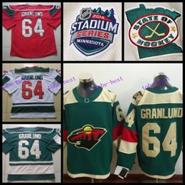 2016 Stadium Series #64 Mikael Granlund Jersey Minnesota Wild Jerseys Green Red White Cheap Ice Mikael Granlund Hockey Jersey