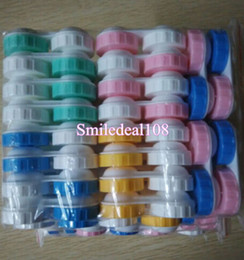 Wholesale Travel Plastic Storage Container Contact Lens Soaking Cases Dual Box L R Marked Contact Lens Accessories