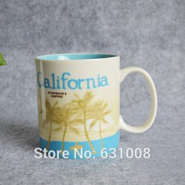 Wholesale NEW California COFFEE Cup city mug Best gift ceramic coffee cup City California mug Office and Family love
