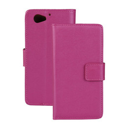 For Sony Xperia Z2 Compact Texture Genuine Wallet Leather Case Cover