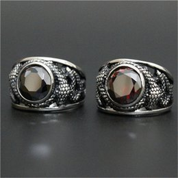 1pc New Design Dragon Ruby Cool Ring 316L Stainless Steel Man Boy Fashion Cool Popular Ring