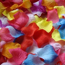 Wholesale Hot Pretty Fabric Flower Rose Petals Wedding Party Decoration Colors to choose Wedding Party Gifts
