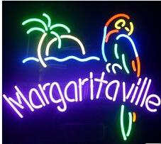Wholesale Hot neon sign commercial custom NEON Margaritaville Parr Neon Light Sign Store Display Beer Bar Sign Real Neon quot X14 quot