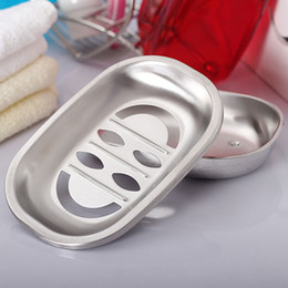 stainless steel soap box stand and bathroom soap dish plates accessories holder set shower soap metall holder dish shelf WD17