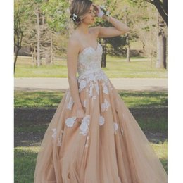 Champagne Appliques Party Dresses 2016 Sweetheart Ruched A line Tulle Formal Evening Prom Dress Custom made