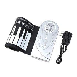 Portable Flexible Roll Up Piano Electrónico 49 teclas Teclado suave Piano Instrumento musical Silicona Electrónica desde piano del teclado suave 49 proveedores
