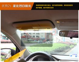 Wholesale Car Day and Night Sunshade Night Vision Goggles Day and Night Anti dazzle Car Sunshade Easy Setup Clip Car Sun Shade