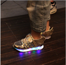 Gros-7 couleurs de LED lumineuses Sneakers enfants LED Night Light Fashion Boots Sport Souliers Pour Filles Garçons chaussures de basket à partir de lumières bottes fabricateur