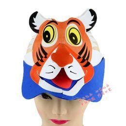 Wholesale Factory direct sale masks EVA animal headdress animal series props nursery school performance perspective tiger hat Party Su