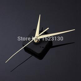 Relojes de cuarzo piezas en venta-Manos de oro de bricolaje Cuarzo Negro movimiento del reloj de pared de partes del mecanismo de reparación silenciosa