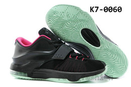 Wholesale Free Fast Shipping Basketball Shoes DS KD VII Kevin Durant Bad Apple Athletics Air Sports Shoes Fast Shippment Men Sneakers Mens Boots DHL