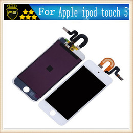 Wholesale For ipod Touch th LCD Display Touch Screen with Digitizer Replacement Parts Full Assembly White or Black Origin quality