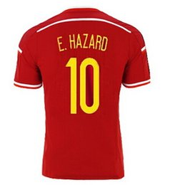 Wholesale 2015 Belgium E Harzard Home Soccer Jerseys red Sports Outdoors Fashion Football Jerseys Customized Soccer Wear from yakuda s Store