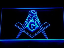 710 Masonic Mason Freemason Emblem Bar Beer LED Neon Light Sign Wholeseller Dropship Free Shipping 7 colors to choose