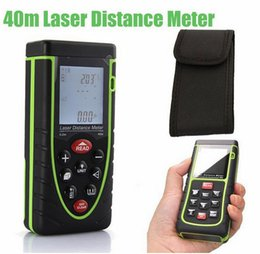 Wholesale New m ft LCD IR Infrared Digital Accurate Laser Distance Tape Measure Meter Rangefinder Bubble Level Tape Measure Area