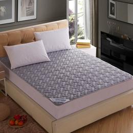 Colchones de colchón en venta-Al por mayor-Nueva llegada de la venta caliente de color gris colchón de la cama cubierta protectora con colchón relleno / almohadilla topper # 50
