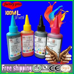 Wholesale 100ML Top quality compatible refillable ink and CISS ink for hp canon epson brother lexmark printer best quality color bk y c m