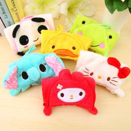 Wholesale pieces Cartoon Children s Bathrobe Towel Handkerchief Kids Bath Wash Cloth Face Washers use Animal Shape Baby Care
