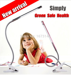 Wholesale New Flexible USB Clip on Table Lamp LED Clamp Reading Study Bed Laptop Desk Light Color