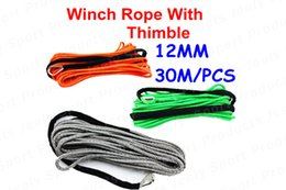 Wholesale Super Power mm m UHMWPE Synthetic X4 ATV UTV SUV WD Truck Winch Rope With Thimble