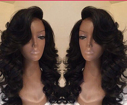 Wholesale fashion beauty sexy long wavy black synthetic hair cosplay full wig for black women
