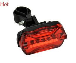2015 Plastic Bike Lights 5 LED Lamp Bike Rear Bicycle Light Rear Safety LED Light Waterproof Flashlight Tail Torch Back Light Red TK0257