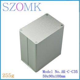 1 pcs, aluminum switch box electrical junction housing enclosure case 59*90*110mm distribution box aluminum amplifier enclosure AK-C-C35